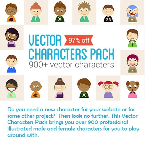 900+ Vector Characters Pack