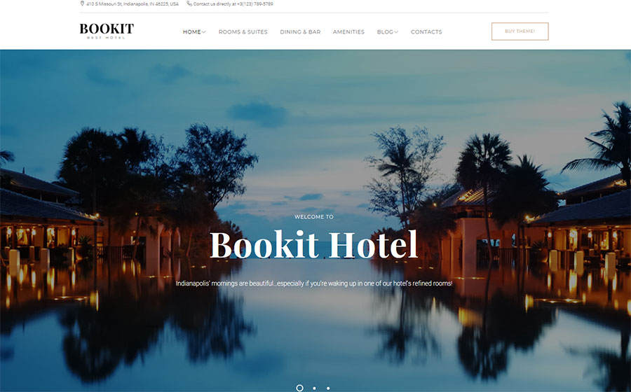 Bookit WordPress Theme – Template Monster