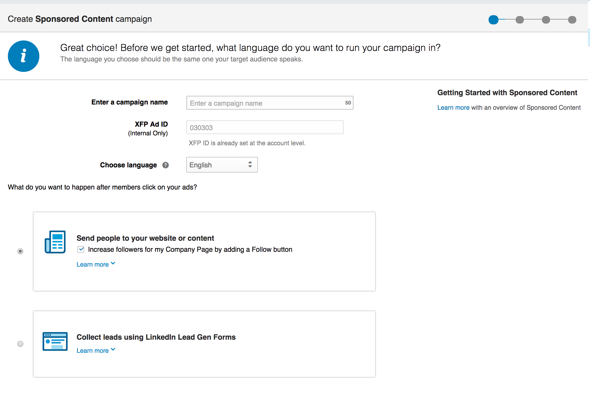 Collect Leads using LinkedIn Lead Gen Form