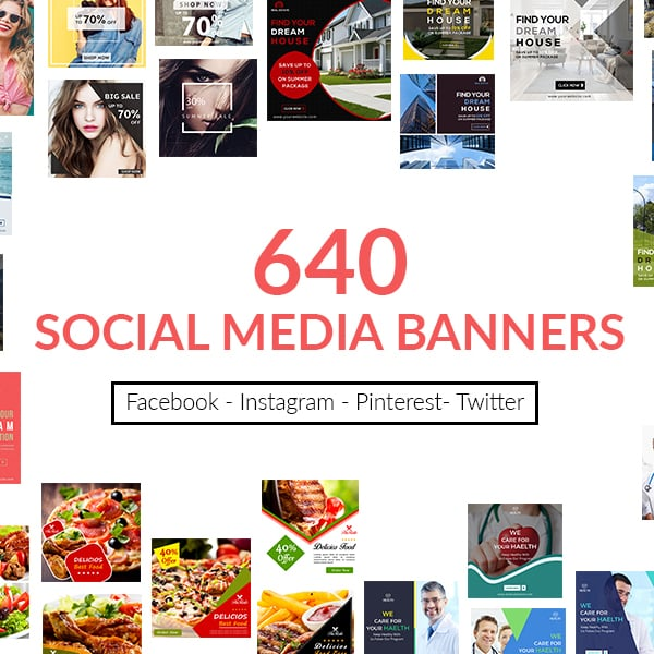 640 Templates for Facebook, Instagram, Twitter, Pinterest