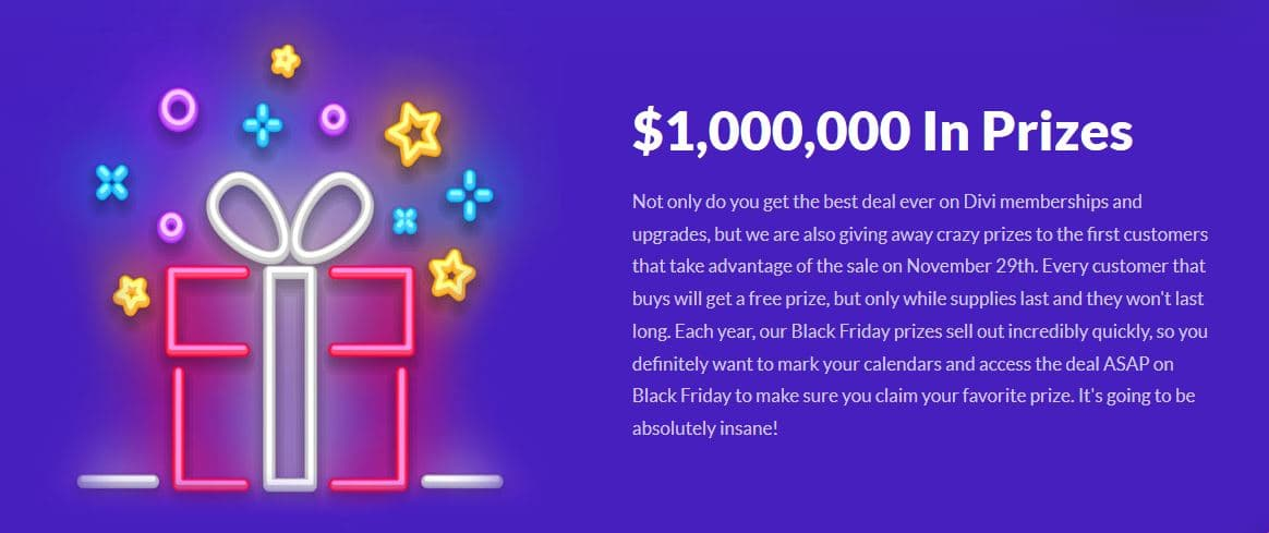 Elegant Themes is Giving Away $1,000,000 worth Freebies on Black Friday