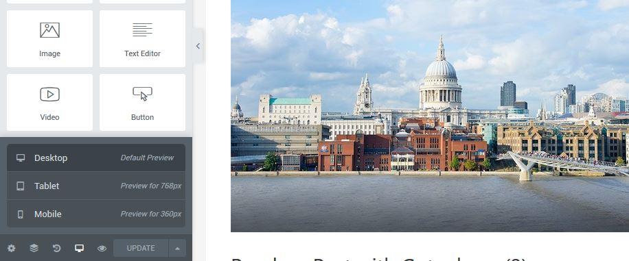 Elementor Editors: Desktop, Mobile & Tablet