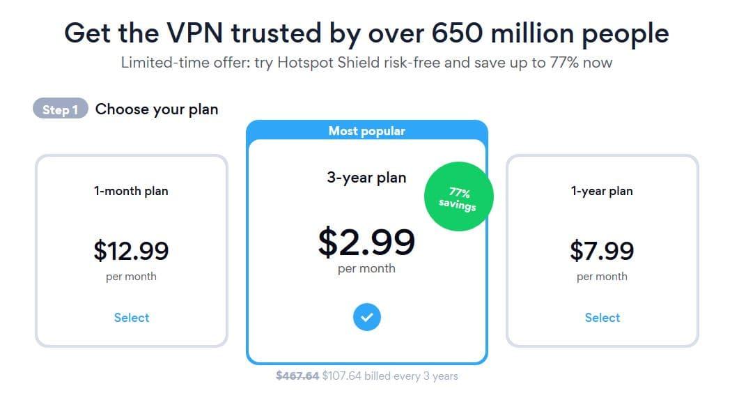 Hotspot Shield Offer Price