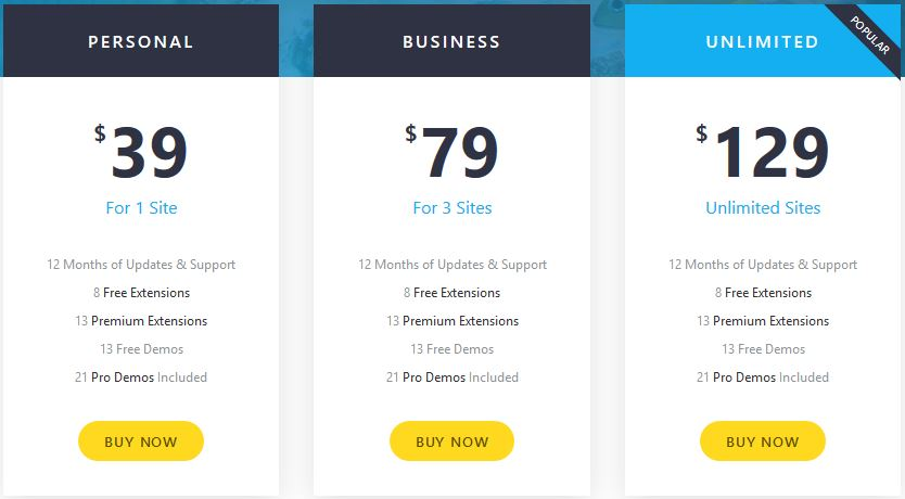 OceanWP Pricing & Plans
