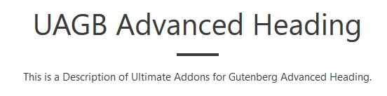 UAGB: Advanced Headings
