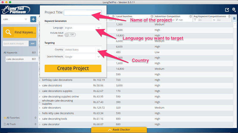 LongTailPro: How to Create Campaign?