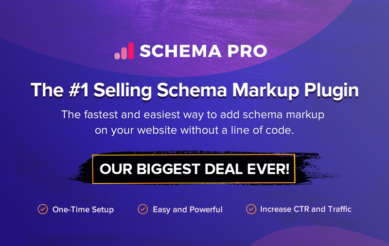 Schema Pro Black Friday Sale 2019 - Get 30% Discount on All Plans