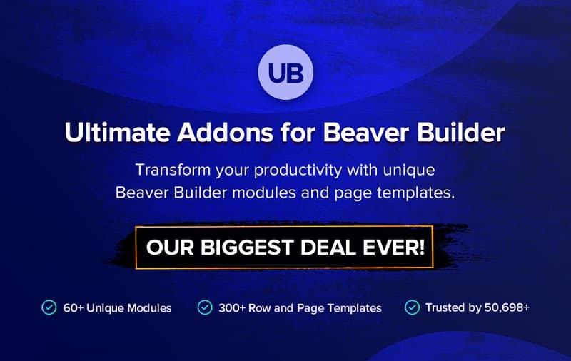 Ultimate Addons for Beaver Builder Black Friday 2019: 30% Discount on All Plans