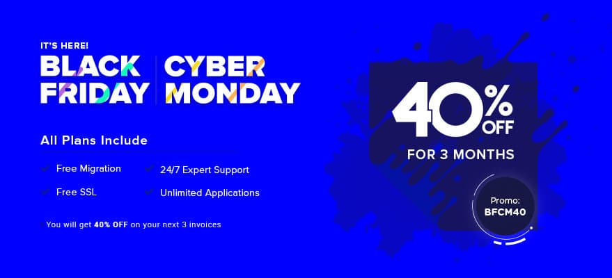 Cloudways Black Friday Sale - Grab 40% Discount Now