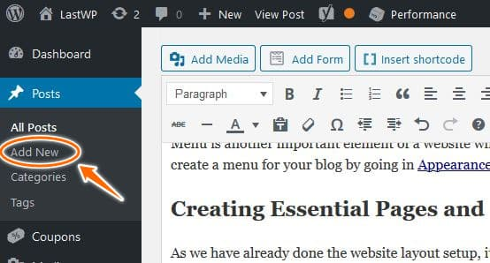 How to Add Posts in WordPress