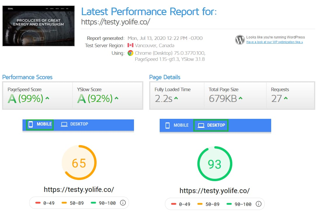 WordPress Speed Optimization Guide - Performance so far...